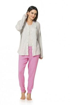 1056 3'lü Ceketli Pijama Takımı resmi