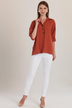 Düğmeli Gömlek Bluz 415711777