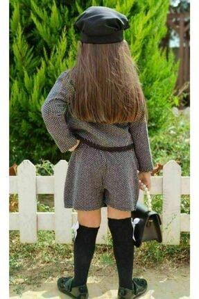 Riccotarz Kız Çocuk Madam Cute Ekoseli Şort Etekli Takım 1