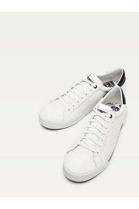 Tommy Hilfiger Erkek Beyaz Sneaker Essentıal Deri Sneaker EM0EM00488 3