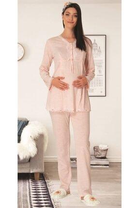 Mecit Pijama Carpediem L.r. Pudra 1509 Hamile Lohusa Pijama Takımı 0