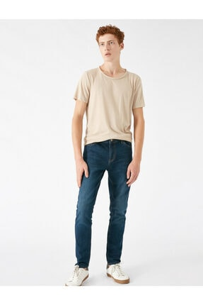 Koton Erkek Petrol Jeans 1KAM43203MD700 1