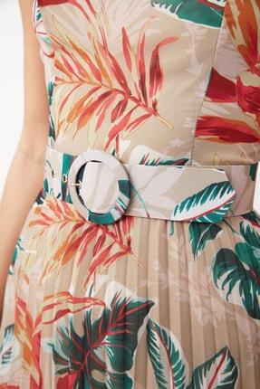 TRENDYOLMİLLA Çok Renkli Kemerli Desenli Elbise TWOSS20EL1341 3