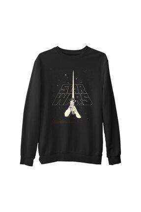 Lord T-Shirt Erkek Siyah Star Wars Blade Kalın Sweatshirt 0
