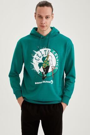 Defacto Nba Lisanslı Oversize Fit Unisex Kapüşonlu Sweatshirt 0