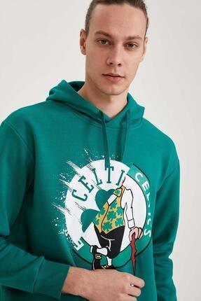 Defacto Nba Lisanslı Oversize Fit Unisex Kapüşonlu Sweatshirt 2