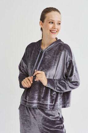 Penti Gri Velvet Sweatshirt 0