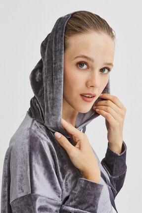 Penti Gri Velvet Sweatshirt 3