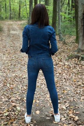Desperado Kadın Koyu Mavi Yüksek Bel Likralı Jean 2