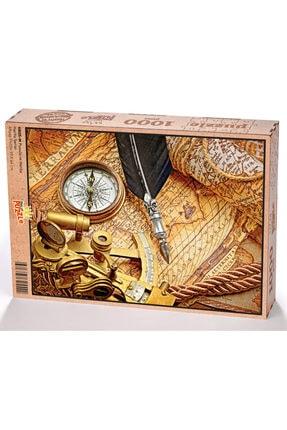 King Of Puzzle Pusula Ve Harita Ahşap Puzzle 1000 Parça 0