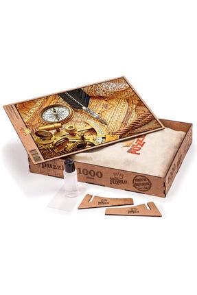 King Of Puzzle Pusula Ve Harita Ahşap Puzzle 1000 Parça 1