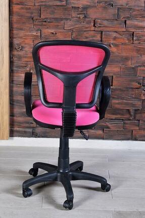 Aldın Aldın Sandalye Ofis Ev Sekreter Pc Koltuğu Fileli Pembe 3