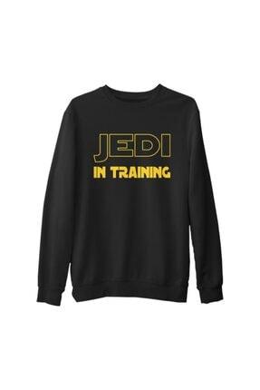 Lord T-Shirt Erkek Siyah Star Wars  Jedi In Training Kalın Sweatshirt 0