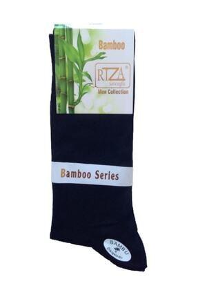 Bambu Rıza Savcıoğlu  Dikişsiz Erkek 12'li Çorap Siyah 0