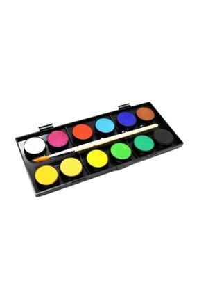 Faber Castell Sulu Boya 12 Renk Büyük Tablet 0