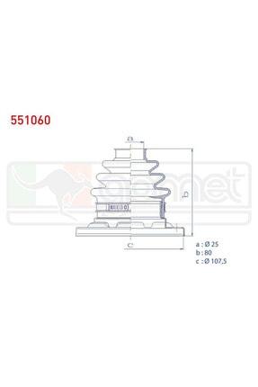 Aks Körüğü Kiti Arka Metal Ic Bmw 5 Serisi (e39) 525 D 25x80x107,5 1995-2003/ 7 Serisi (e38) 730 D 1 551060