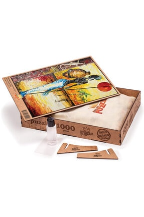 King Of Puzzle Testili Afrikalı Kadın Zaire Ahşap Puzzle 1000 Parça 1