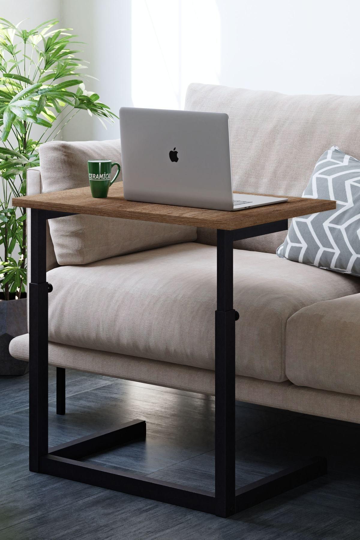 Yükseklik Ayarlı Laptop Sehpası, Çalışma Masası, Bilgisayar Masası - Sakramento