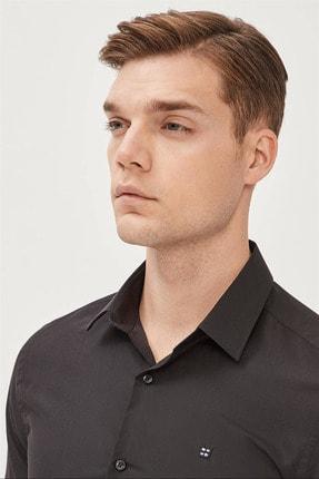 Avva Erkek Siyah Düz Klasik Yaka Slim Fit Gömlek E002002 1