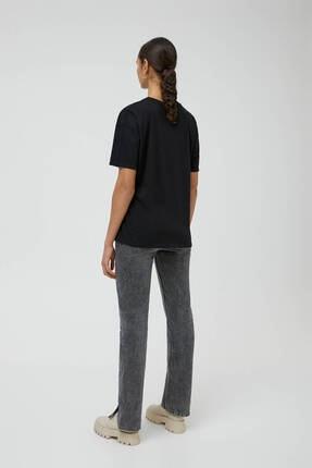 Pull & Bear Siyah Friends Görselli T-shirt 3