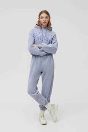 Pull & Bear Gri Hawaii Sweatshirt 1