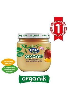 Hero Baby Organik Elma Şeftali ve Kayısı Muz Kavanoz Mama 120g 12 Adet 2