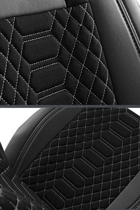 Deluxe Boss Special Oto Koltuk Kılıfı - Modena Serisi - Siyah Renk Füme Nakış 3