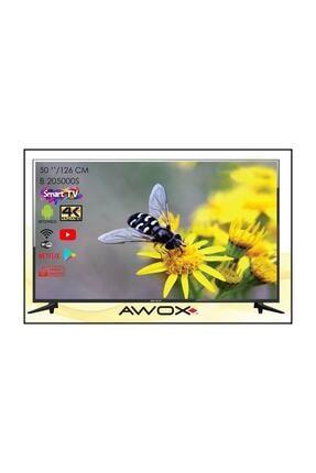 "AWOX B205000s 50"" 127 Ekran Uydu Alıcılı 4k Ultra Hd Smart Android Led Tv 2"