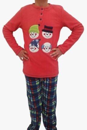 Haluk Bayram Ba Ha Polar Pijama Takımı Nar Çiçeği 0