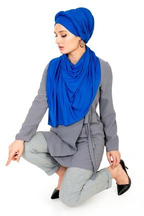 LadyColor Kadın Mavi Penye Şal 1