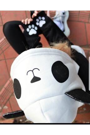 arer butik Kadın Siyah Panda Sweatshirt 2