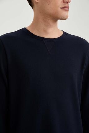 Defacto Uzun Kollu Esnek Dokulu Slim Fit Basic Tişört 2