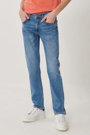 Daren Erkek Koyu Mavi Straight Fit Normal Bel Düz Paça Esnek Jean Pantolon L707