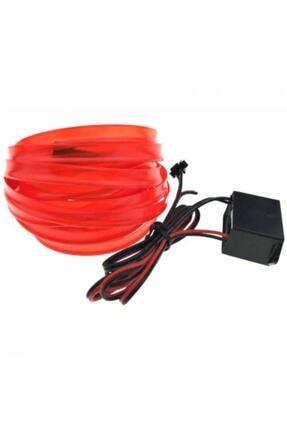 Neon 2 Metre Kırmızı Renk Ip Led Araç Içi Ip Torpido Şerit 12v Adaptörlü 1