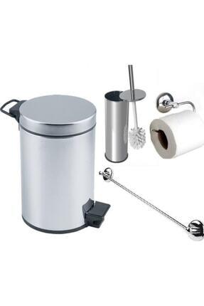 Şık Banyo Çöp Kovası Seti Çöp Kovası Fırça Kağıtlık Havluluk HBV00000QGY9E