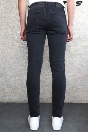 Collezione Collezıone Jeffrey Taşlamalı Slim Fit Antrasit Kot Pantolon 2