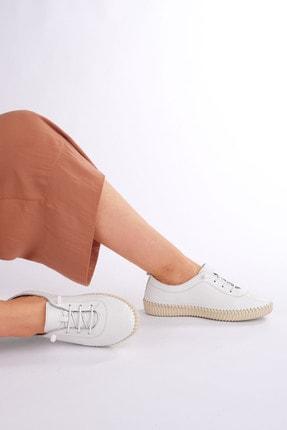 Marjin Kadın Beyaz Hakiki Deri Comfort Ayakkabı Ritok 2