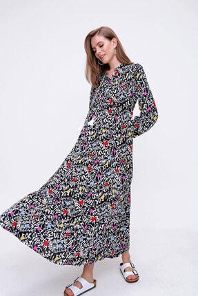 Bigdart Volanlı Tesettür Elbise 1
