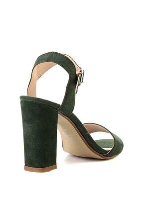 Bambi Yeşil Süet Kadın Klasik Topuklu Ayakkabı K05503740072 4