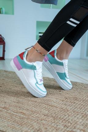 Bartrobel Kadın Beyaz Yeşil Günlük Spor Ayakkabı 3