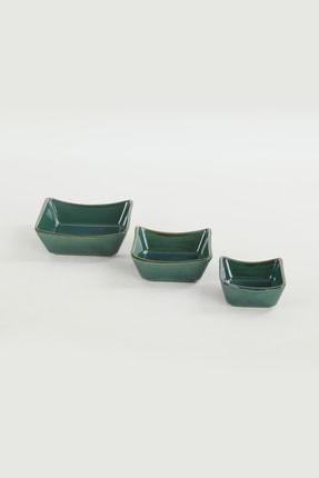 Keramika Zümrüt Sandal Çerezlik Sosluk 08-10-12 cm 6 Adet 3