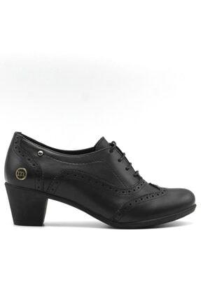 Mammamia Kadın Siyah Günlük Deri Ayakkabı 3220b 2