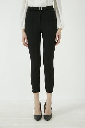 Vis a Vis Kadın Siyah Önü Biyeli Tokalı Pantolon 20KPA768K101 4