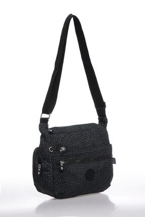Smart Bags Smbk1056-0091 Puantiyeli/siyah Kadın Çapraz Çanta 1
