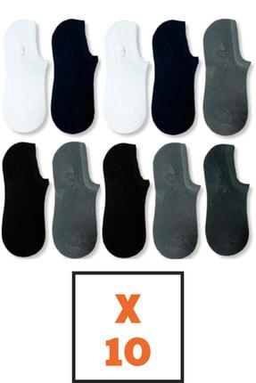 socksbox 10 Çift Bambu Dikişsiz Görünmez Sneakers Çorap 0