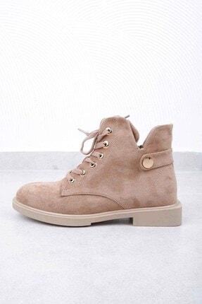 Tinka Bell Shoes K02 Kadın Bot Vizon Süet 2