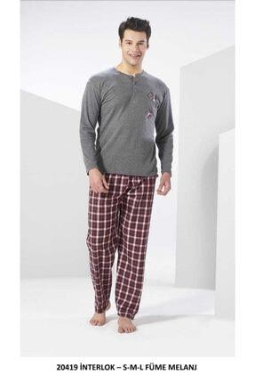 20419 Erkek 2 Iplik Pijama Takımı Gri resmi