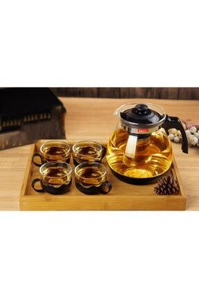 Oranj Life 700 ml Çelik Süzgeçli Cam Demlik Isıya Dayanıklı Cam Çaydanlık Bitki Çayı Demliği 3