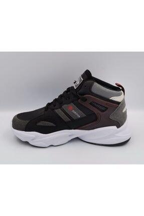 MP Spor Basketbol Ayakkabısı Siyah Bordo Kalın Taban Bilek Boy Orjinal Ayakkabı 1