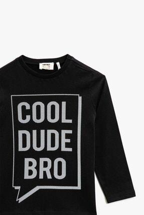 Koton Erkek Çocuk Pamuklu Yazılı Baskılı Uzun Kollu T-shirt 1kkb16969ok 1